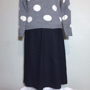 GAP Black Wool Long Slight Flare Skirt 10